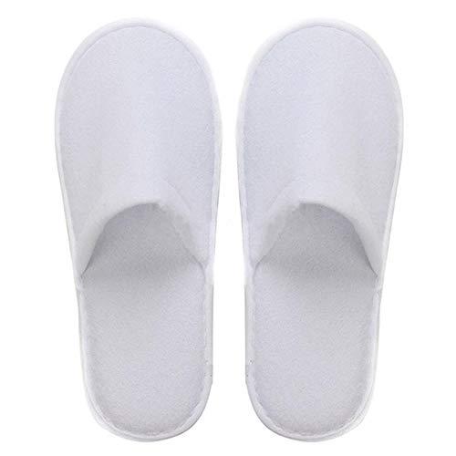 gracosy Zapatillas de Hotel Unisex Zapatillas Desechables Invitado Fiesta Aguas Termales SPA Zapatillas de Tela de algodón Zapatillas Blancas Transpirables Plegables