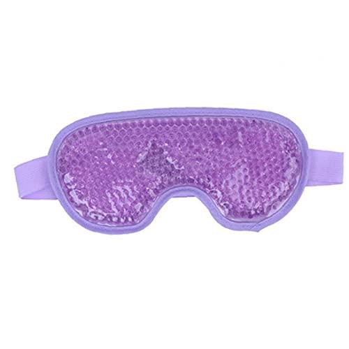 NIDONE Cubierta del Ojo Perlas de Gel de refrigeración Cubierta del Ojo Caliente compresa fría del Remiendo del Ojo del sueño Reutilizable para los Ojos hinchados ojeras migraña púrpura
