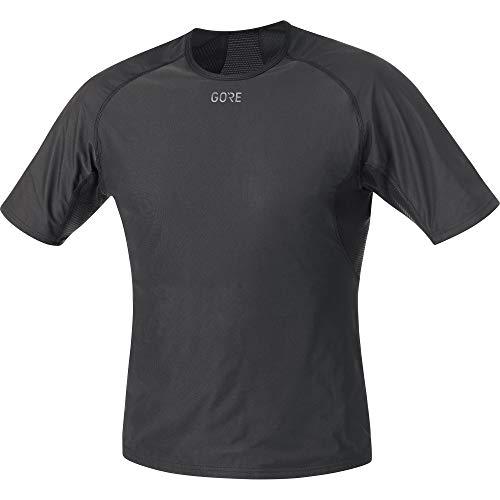 GORE WEAR M Herren Kurzarm Unterhemd GORE WINDSTOPPER, L, schwarz (black)