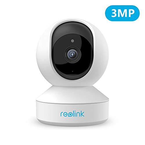 Reolink WLAN IP Kamera schwenkbar, Überwachungskamera Innen Handy 3MP HD mit 2,4 GHz WLAN, 355°Schwenk- / 50°Neigung, Zwei-Wege-Audio, Bewegungserkennung, kompatibel mit Google Assistant, E1