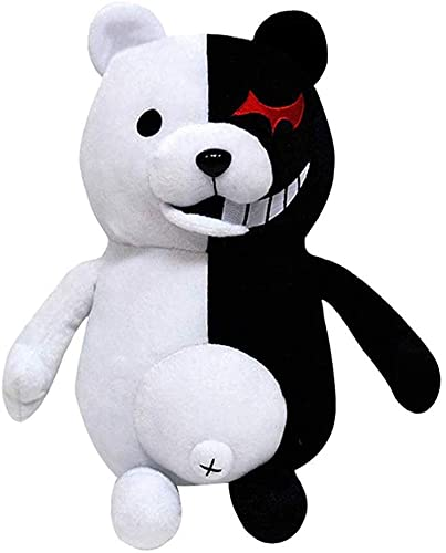 Xiumui 14' Danganronpa Monokuma Monomi Plush Doll Black and White Bear Anime Plush Toy