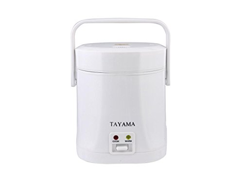 Tayama TMRC-03 1.5 Cup Portable Mini Rice Cooker, Whit
