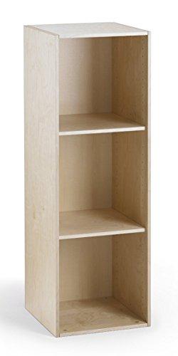traturio Hochwertiger Kombi Regalschrank aus Birke Multiplex mit Echtholzfurnier, Türen & Schubladen optional, für Kinderzimmer, Büro, Garderobe.