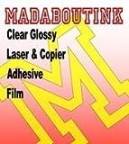 Laser et copieur Film vinyle autocollant en vinyle transparent brillant 20feuilles...