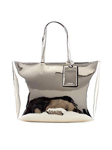 Calvin Klein - Ck Must Psp20 Med Shopper M, Bolsos totes Mujer, Dorado (Champagne), 0.1x0.1x0.1 cm (W x H L)