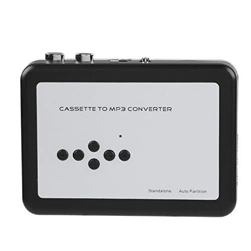 Demeras Convertitore da Cassetta Portatile a MP3 USB Flash Drive Cattura Audio Music Player Plug And Play