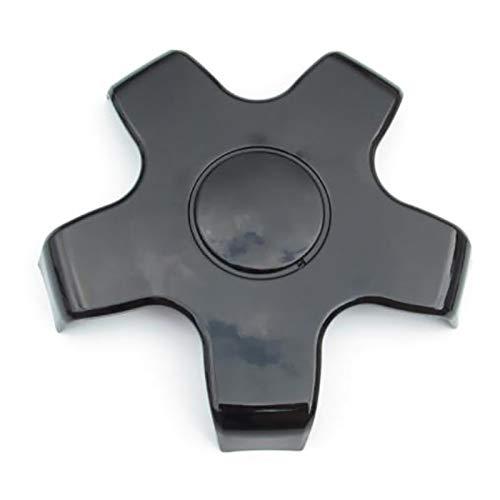 Timagebreze 1PCS Cubierta de Cubo de Rueda Tapa Antipolvo ABS Impermeable Durable Llanta de Rueda DecoracióN de Cubo Central para Tesla Model 3 (Negro Brillante)