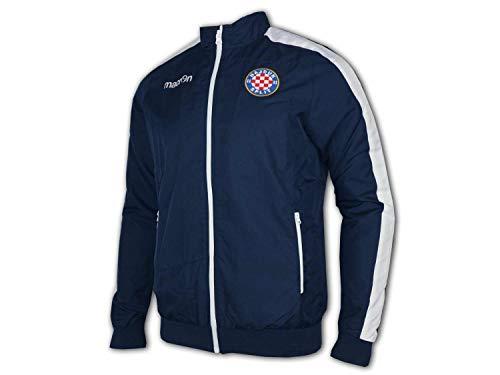 Macron Hajduk Split Jacke blau Hajduk Fanartikel Sport & Freizeitjacke Kroatien, Größe:4XL