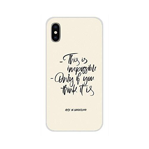 Frase simple en inglés sobre el amor Esto es imposible solo si usted piensa que es funda de teléfono para iPhone-Images 9-for iPhone 6S Plus