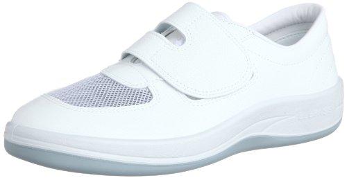 [ミドリ安全] 静電作業靴 クリーンルーム向け マジックタイプ スニーカー エレパス SU403 メンズ ホワイト 26.5