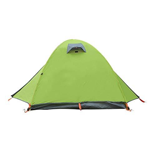 2-persoons kampeertent, aluminium stok dubbellaagse tent, ultralichte koepeltent, anti-storm, zeer geschikt voor kamperen, wandelen, backpacken en bergbeklimmen,Green