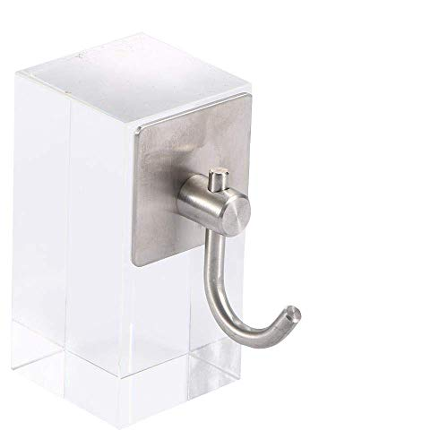 ZGQA-GQA 1pcs Simple de Acero Inoxidable Auto-Adhesivo de Ganchos for Llaves Rack Duradero Baño Cocina de Montaje en Pared Ganchos de la Ropa