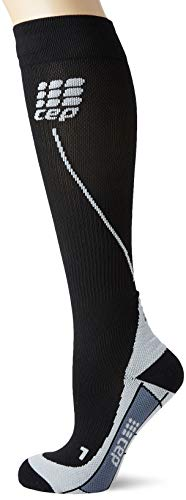 CEP Women's Progressive+ Run Socks 2.0, Black/Grey, 3