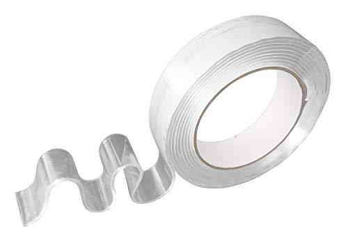 Steuber Power Tape 5m, enorm starkes doppelseitiges Klebeband, 50 mm Breite, transparent, Universal Montage Tape zum Heimwerken & Basteln