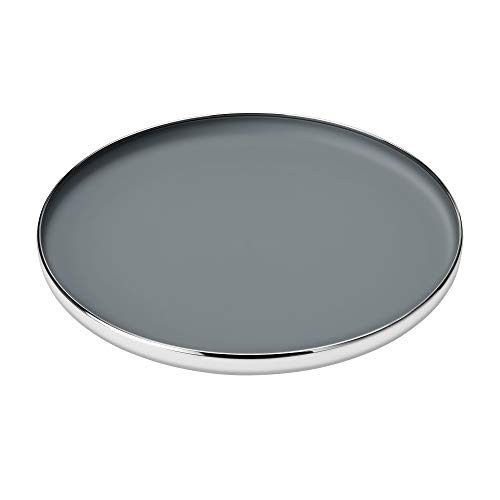 Stelton Foster elegantes Serviertablett mit rutschfestem Boden aus Edelstahl, H: 4,5 CM Ø: 40 CM