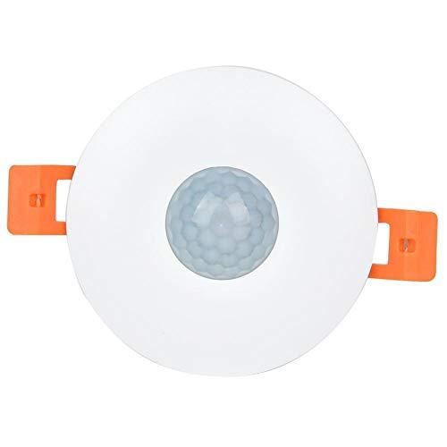 Tarente Embedded Interruptor infrarrojo del Sensor de Movimiento Blanca Ajustable for Escaleras Garaje MR-HWQR8636