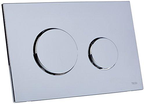 TECE loop Betätigungsplatte für WC (Kunststoff Chrom glänzend, Zweimengentechnik, bedienbar von oben und vorne) 9240626