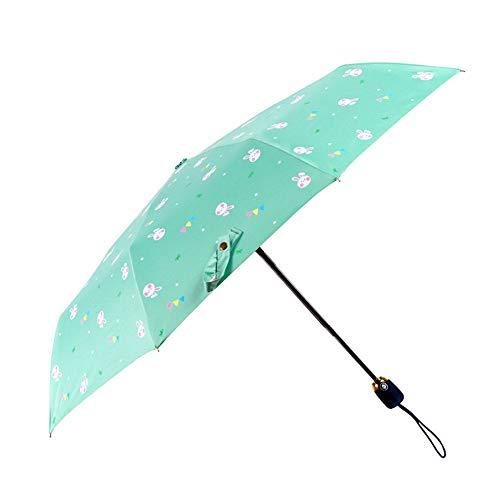 Yaunli opvouwbare paraplu Compact Travel Paraplu Anti-UV Paraplu Met Zwarte Lijm Anti UV Coating Lichtgewicht sneldrogende opvouwbare paraplu