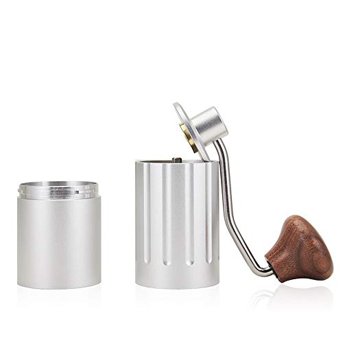 Find Discount UIUJ Hand-Cranked Coffee Grinder, Manual Grinder, Household Portable Grinder, Double Bearings, Copper Regulator, Anti-Static, 35G Large Powder Silo