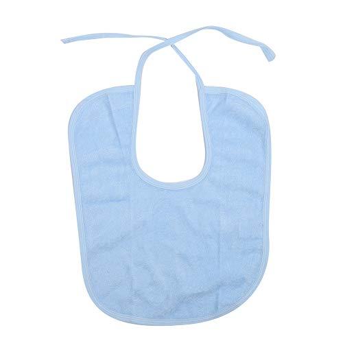 2 Kleur 3 Grootte Volwassen Bib, Oudere Waterdichte Bib, Volwassen Maaltijd Saliva Handdoek Eetschort Kleding Bamboe Beschermer S Lichtblauw