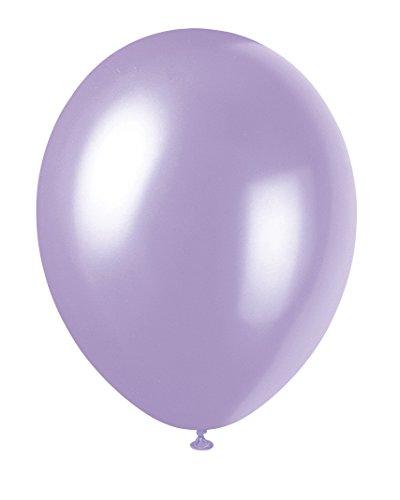 Unique Party - Globos Perlados de Látex - 30 cm - Color Lavanda - Paquete de 8 (80065)