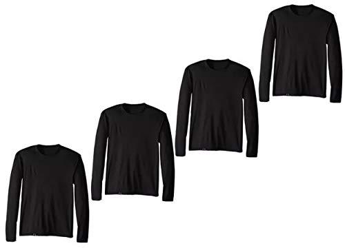 Kit com 04 Camisetas Proteção UV Masculina UV50+ Secagem Rápida – Preto G