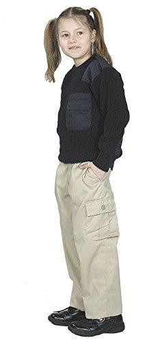 Unbekannt US BDU Pantalon Kids, M, Kaki