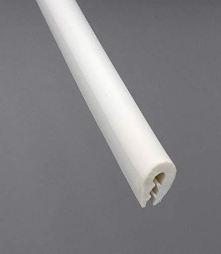 Kantenschutzprofil TPE Kantenschutz Keder Gummi 10x14mm weiß Klemmbereich 1-3mm (1m)