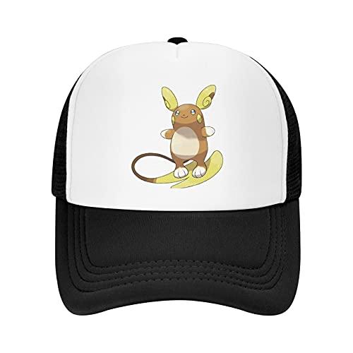 MWHprint Adult's Trucker Hats for Boys & Girls Cool Adjustable Mesh Baseball Cap, Raichu Alola, Black