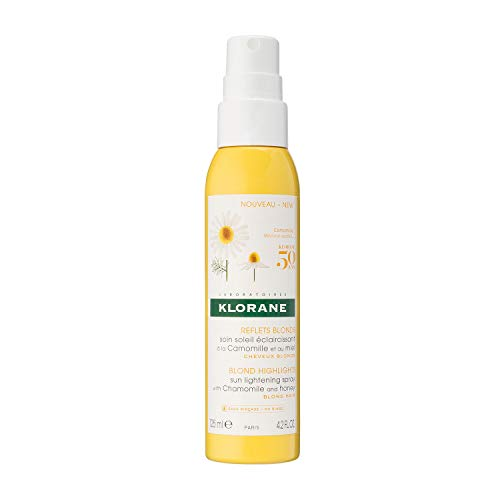 Klorane Sun Lightening Spray with Chamomile & Honey, Natural Controlled Highlights, Paraben, Hydrogen Peroxide, Ammonia, Sulfate Free, 4.2 oz.