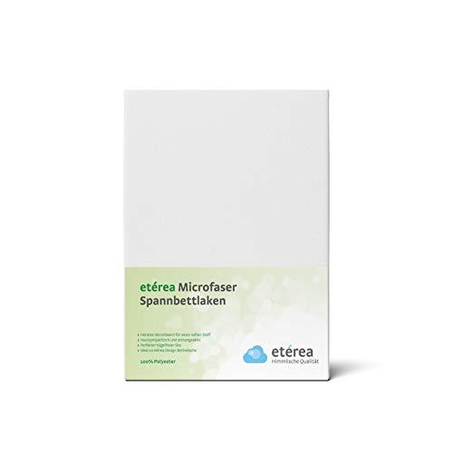 #6 Etérea Classic Microfaser Interlock Kinder-Spannbettlaken, Spannbetttuch, Bettlaken, 60×120 – 70×140 cm, Weiß - 2