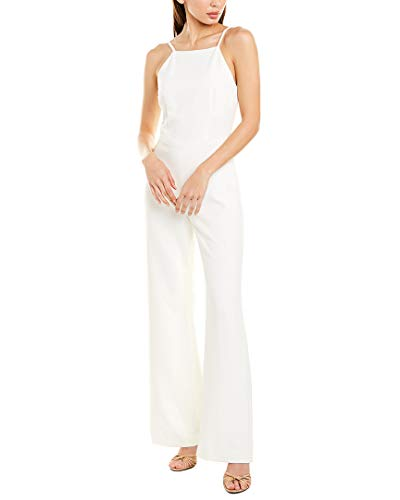 French Connection Women's Strappy Slightly Flared Leg Jumpsuit, Summer White, 2