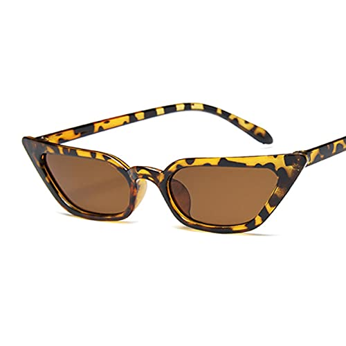 ASZX Pequeño Gato Ojo Gafas de Sol Damas Retro Espejo plástico Personalidad Foto Check-in Gafas de Sol Femenino UV400 Pequeño Marco Mariposa Gafas de Sol 622