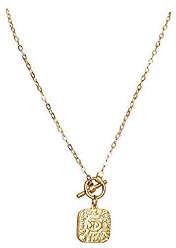 ZGYFJCH Co.,ltd Collar Jersey con Personalidad Cuadrada para Mujer con Collar