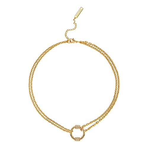DZX Collares Pendientes para Mujer, Collar con Colgante, Accesorios para Mujer, cumpleaños, Aniversario, Cadena de joyería para su Esposa
