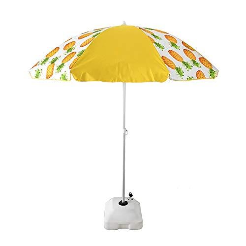 Arcoiris Sombrilla Playa Parasol terraza de Aluminio Protección Solar UPF+50 (220 cm, Piña Amarillo)