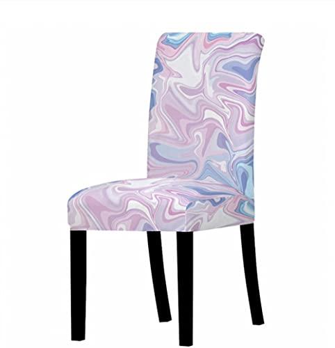 Fundas elásticas para sillas de comedor, poliéster, lavables, extraíbles, para comedor, banquetes y piedras irregulares