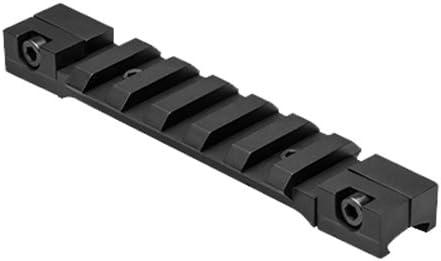 "Nc Star MAD3/8PS Dovetail to Picatinny Rail Adapter/Short, 3/8"", Black"