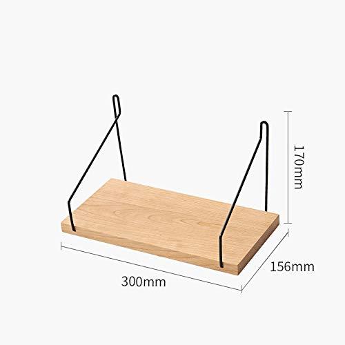 Zwevende Planken, Houten Decoratieve, Zwevende Plank Tv-Componenten, Garage/Schuur/Magazijn/Vrijstaande Opslagplanken,Massief Houten Rek-Sectie B_300 Mm