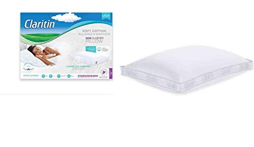 Claritin Cotton Soft Side Sleeper Allergen Pillow Standard Queen