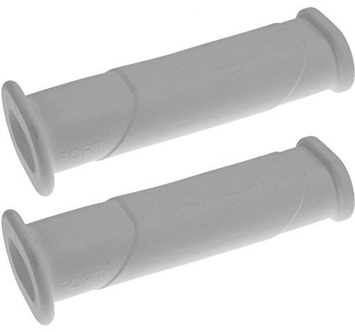 2x Schubkarren Universal Griffe oval Rohre WEIß Karrengriff Schiebkarre Schubkarrengriffe Sackkarre