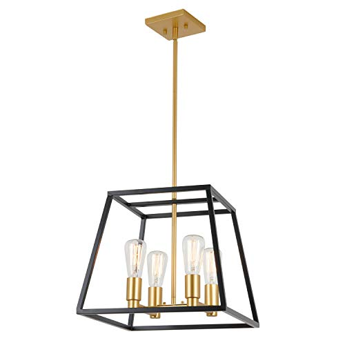 Artika CAR15-ON Carter Square 4 Pendant Light Fixture,...