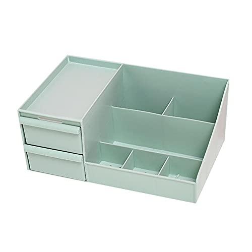 wuwu 1 PC Caja de almacenamiento de restos de escritorio creativo multifunción Decktop Box de escritorio Kawaii Desk Organizer Drawer Plan Funda (Color : Army Green)