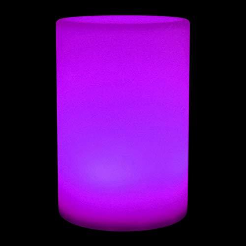 Okuyonic Lámpara de Mesa cilíndrica Aspecto Hermoso Luz de Escritorio LED Impermeable Decoración Duradera Luz de Escritorio Patio para Dormitorio(Round...