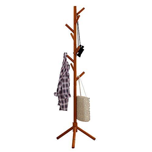 YWZQ eenvoudige huishoudelijke kapstandaard, multifunctioneel, massief houten kledingrek, verrijdbaar frame, staande garderobe voor woonkamer, slaapkamer, badkamer enz.