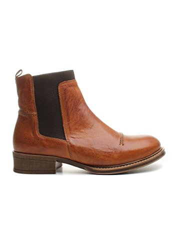 Ten Points Chelsea Boots Women PANDORA 122003 Cognac, Schuhgröße:36