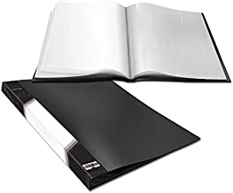 Presentation Book 40 Clear Pockets Sleeves Protectors Art Portfolio Clear Book for Artwork, Report Sheet, Letter (Can Accommodate 16.5 X 12.1inch)