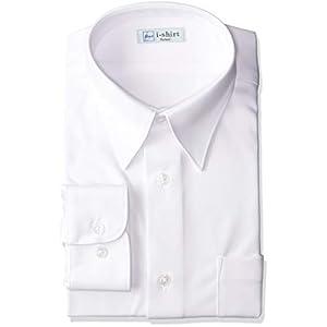 [アイシャツ] i-shirt 完全ノーアイロン ストレッチ 超速乾 部屋干し 長袖 男子用 アイシャツスクール ホワイト M971180012 日本 165A (日本サイズS相当)