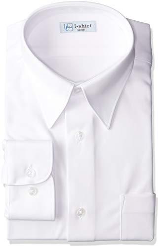 [アイシャツ] i-shirt 完全ノーアイロン ストレッチ 超速乾 部屋干し 長袖 男子用 アイシャツスクール ホワイト M971180012 日本 160A (日本サイズ160 相当)