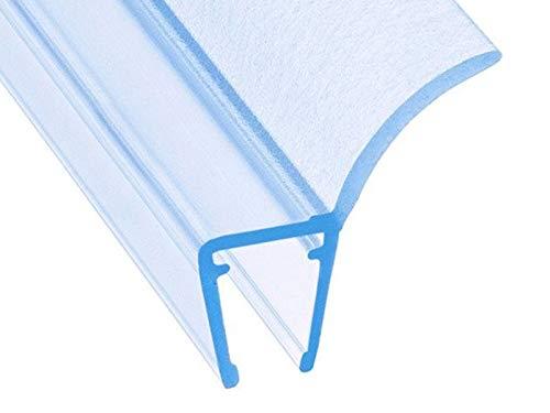 Junta de ducha DQ-PP 16mm - 8mm0cm | Junta para puerta de vidrio de 6mm - 8mm de espesor | UK12 | Perfil de drenaje de agua Perfil repelente al agua | Cabinas de ducha | Repuestos para cabina de ducha